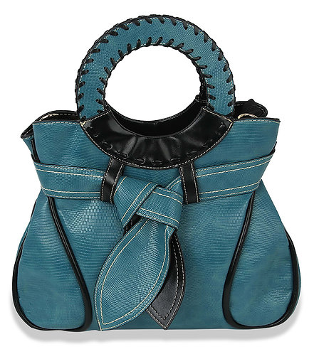 Belted Tote-Blue