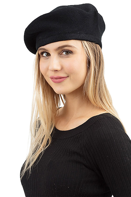 Stylish Stretch Fashion Beret Black