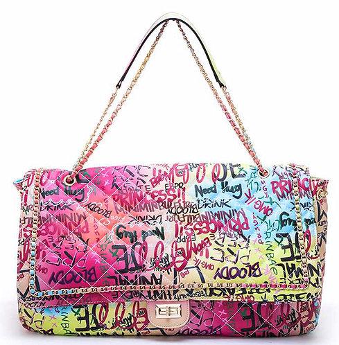 Graffiti Oversize Shoulder Bag
