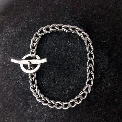 Ancient Origin, Fine silver loop in loop bracelet