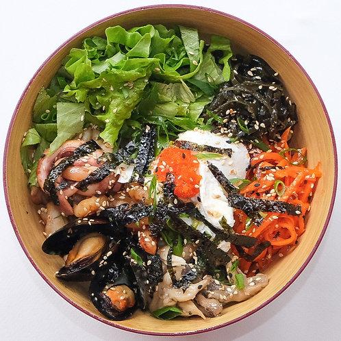 Пибимпаб с морепродуктами