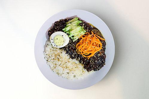 Чанжанмён с рисом
