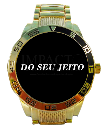 Relógio DO SEU JEITO Dourado - Linha Premium Gold