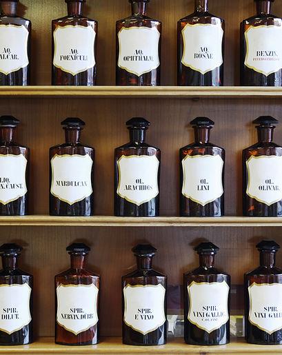 Bouteilles en verre Apothicaire, perles en ceramique Apothicaire pour filtrer l'eau