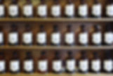 various brown bottles of elixirs