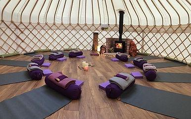Friday night; restorative yoga in yurt,