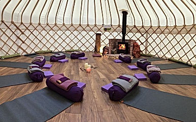 Friday night; restorative yoga in yurt,