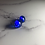 Thumbnail: Royal Blue Fused Glass Earrings (#6)