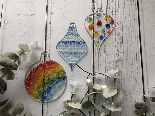 Trio of Baubles - Fused Glass at Home Kit