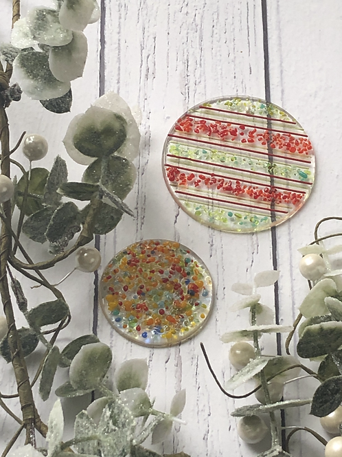Duo of Round Baubles - Fused Glass at Home Kit