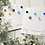 Thumbnail: Christmas Card with Fused Glass Baubles