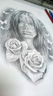 Day of the dead girl for Kelly