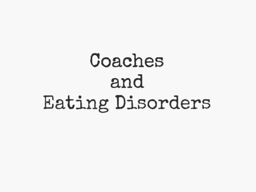 Coaches and Eating Disorders
