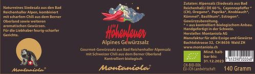 Höhenfeuer Alpines Gewürzsalz 70 gr