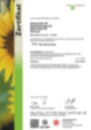 Montaniola Bio Zertifikat 2020