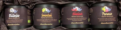 Montaniola Geschenkbox mit 4 Gewürzsalzen