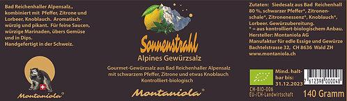 """""""Sonnenstrahl"""" Alpines Gewürzsalz 70 gr"""