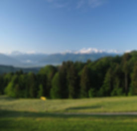 Ein Maimorgen oberhalb der Vinaigrerie, die sich im Dorf Wald im Tal befindet. Copyright Bild: www.sennenberg.ch