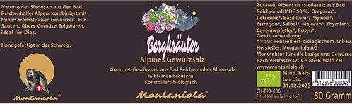Bergkräuter Alpines Gewürzsalz 80 gr