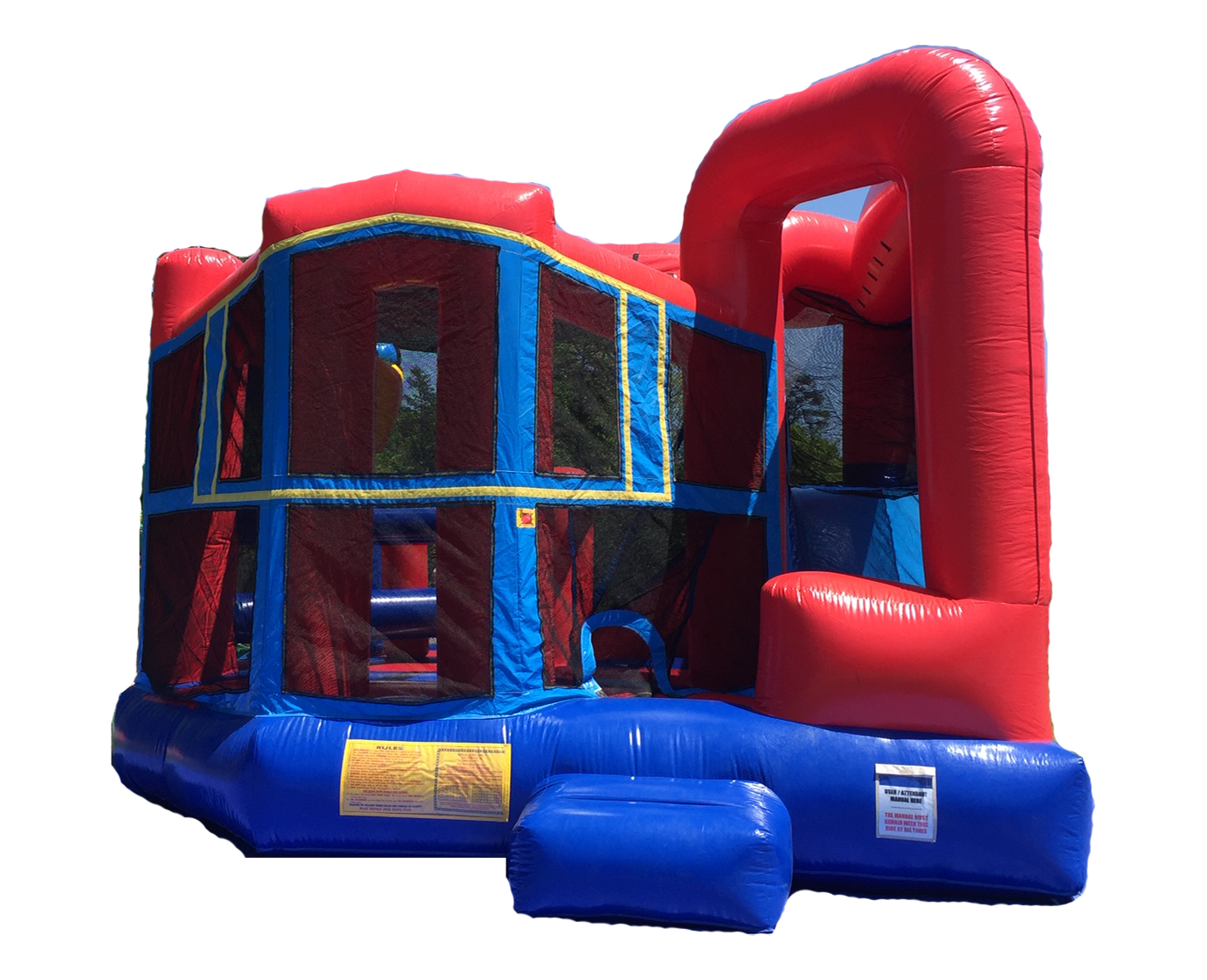 5 n 1 Combo Inflatable Blue