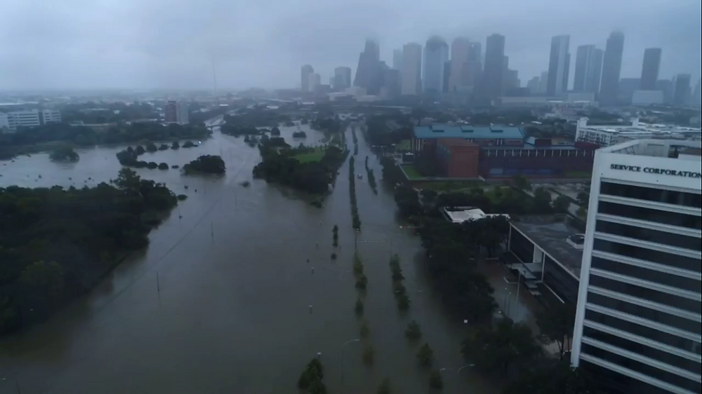 drone hurricane harvey houston