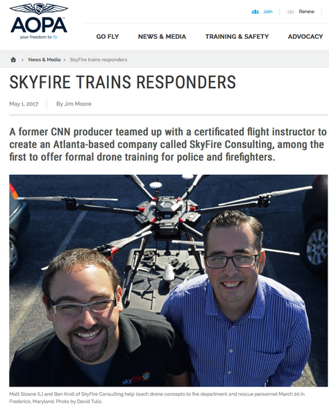 Skyfire Consulting Recognized by World's Largest Aviation Association AOPA