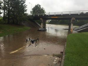 hurricane harvey dji m210 floods