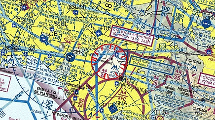 FAA airspace map