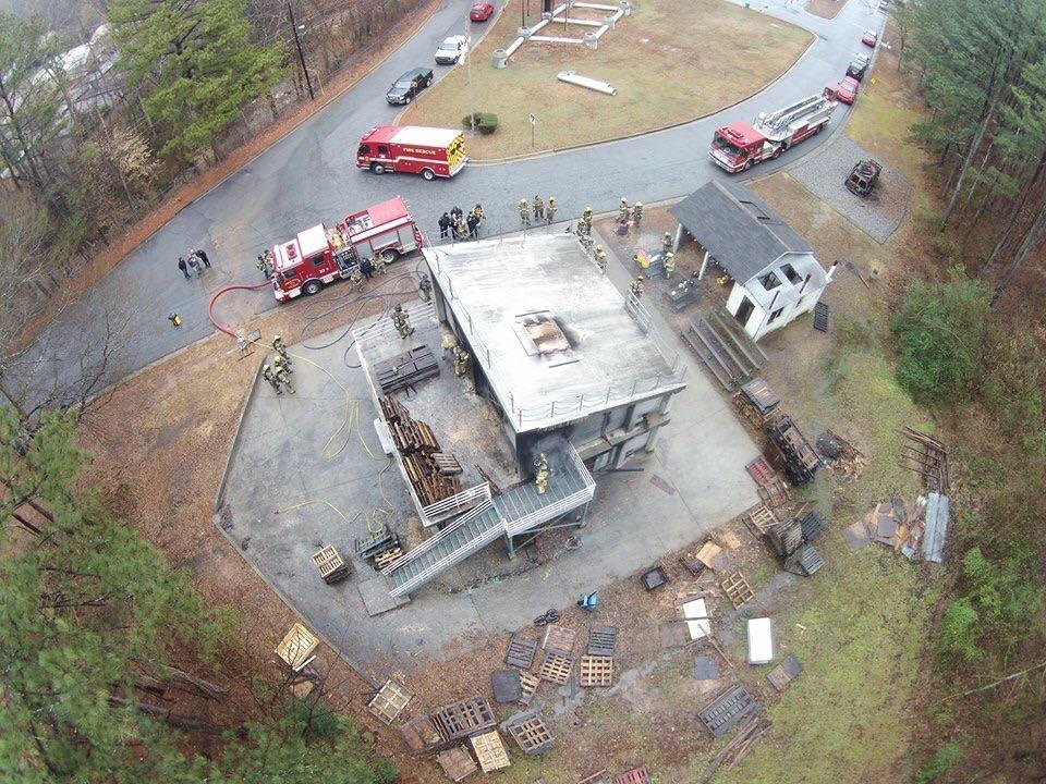 fire police drone part 107 coa