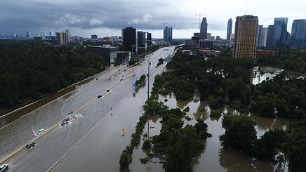 houston hurricane harvey aerial photo