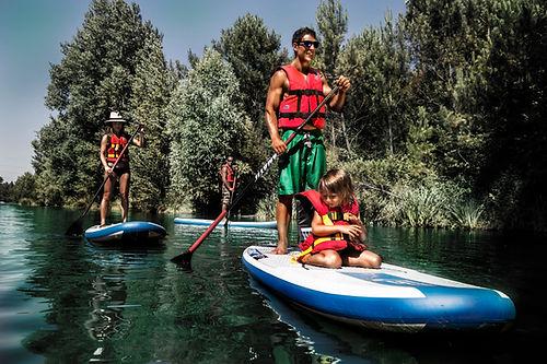 balade en paddle sur le lac du moulin blanc