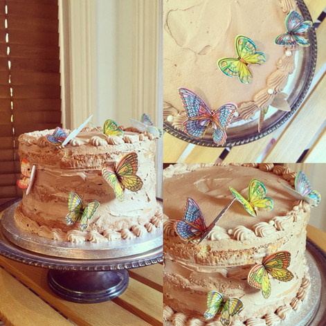 Lively Butterfly Sponge Cake with Swiss Meringue Buttercream is now available
