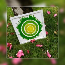 mandala vibratoire vert