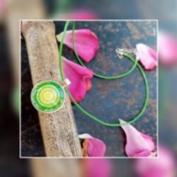 bijoux mandala vert