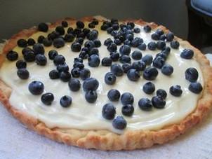 """""""Healthified"""" Blueberry-Lemon Tart"""