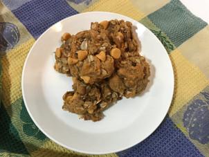 Peanut Butter Oatmeal Cookies (no butter/no flour)
