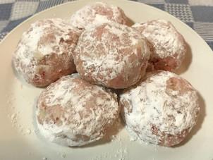 Cherry Mexican Wedding Cakes