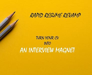 Rapid Resume Revamp