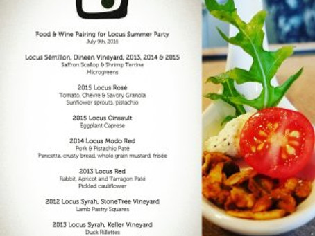 Locus Wines Summer Party: July 9th, 3-7PM in Madrona