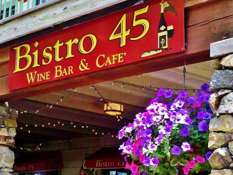 Tasting at Bistro 45 in McCall, on Friday, May 3rd, 5-7PM