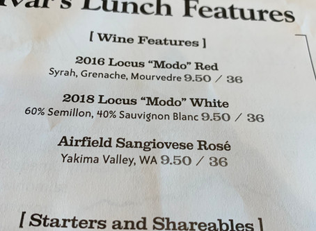 Ivar's Pier 54 Special Sheet? Yeah, We Got Two Wines On It!