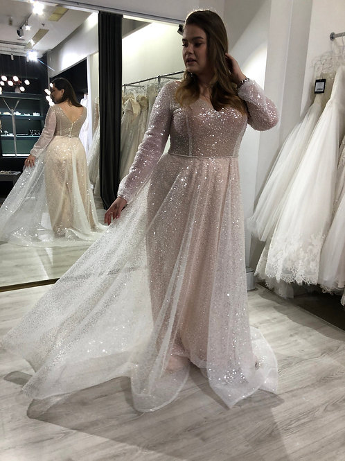 Plus size wedding dress Feilin