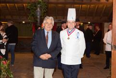 Vincent Barbier et le président du Jury Eric Briffard