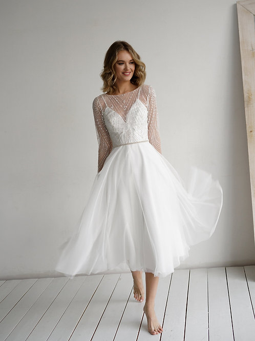 Wedding dress Tirion Midi