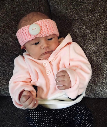 Baby Headband with button