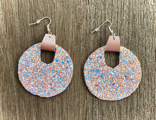 Rose Gold Sparkle Earrings