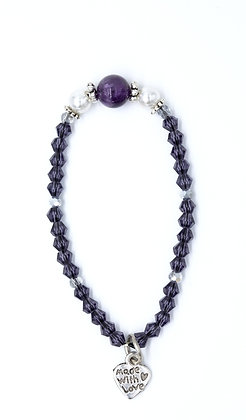 Amethyst Sparkle with Pearls