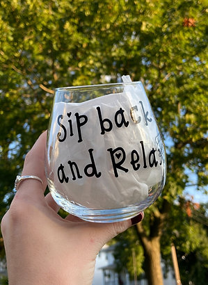 Sip Back & Relax Stemless Glass