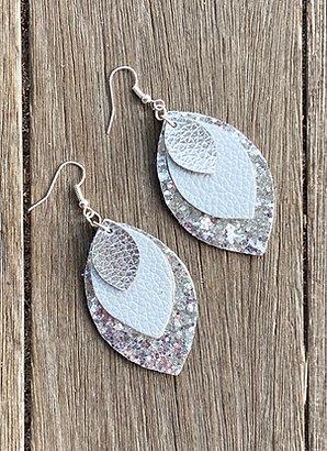 Dangle Leaf Shaped Earrings