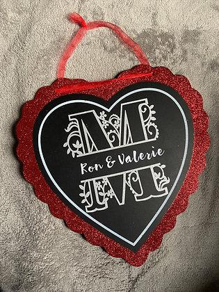 Personalized Heart Decor